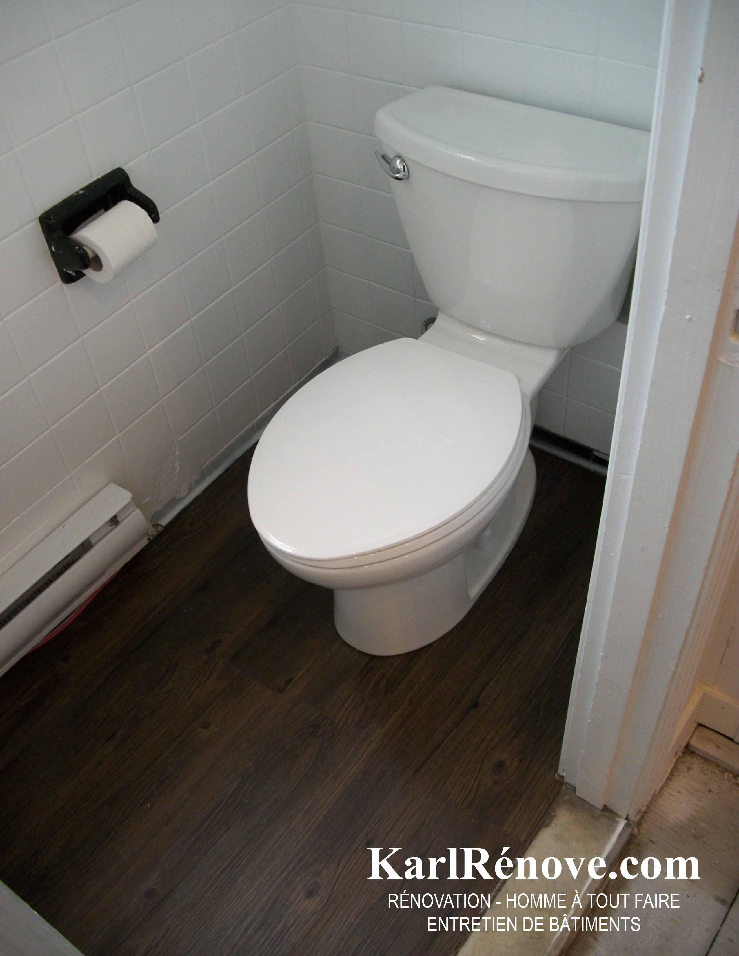 Revetement vinyle salle de bain