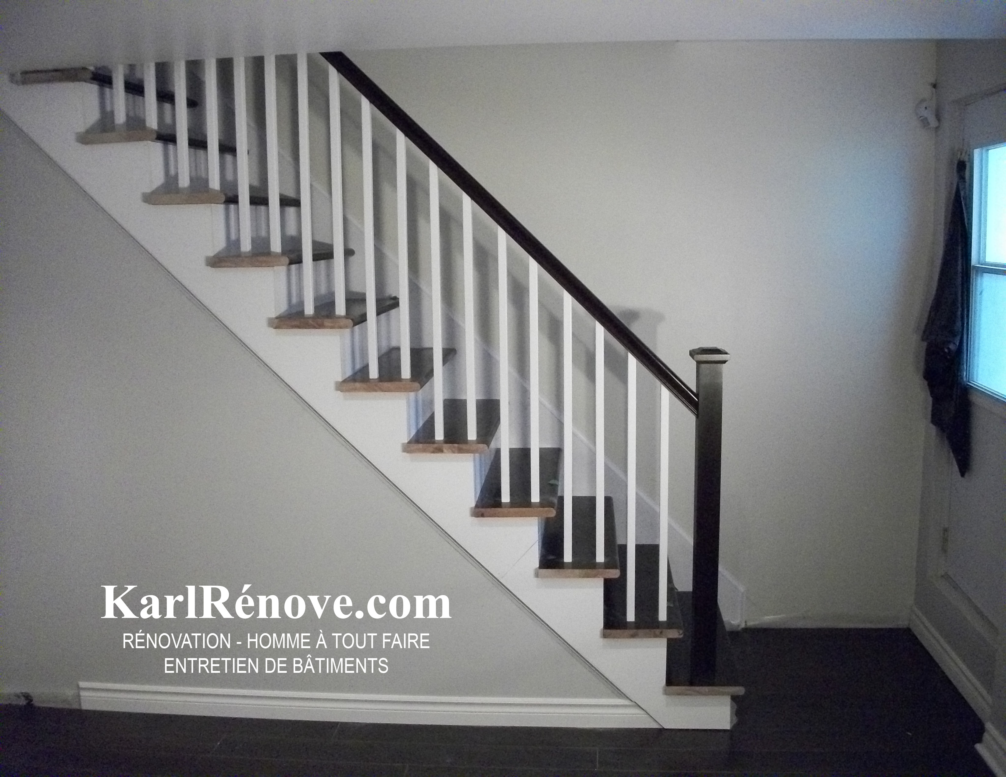 r novation escalier de sous sol karlrenove. Black Bedroom Furniture Sets. Home Design Ideas